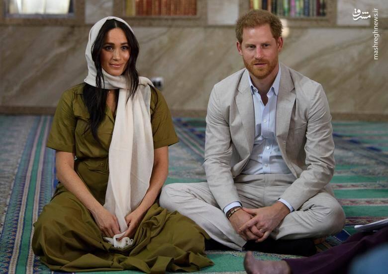 """شاهزاده """"هری"""" نوه ملکه بریتانیا و همسرش """"مگان مارکل"""" در بازدید از مسجد جامع شهر """"کیپ تاون"""" آفریقای جنوبی/ 24 سپتامبر 2019"""