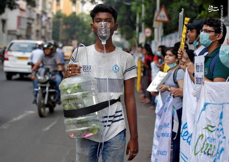 تظاهرات جهانی علیه تغییرات اقلیمی در شهر کلکلته هندوستان/ 20 سپتامبر 2019