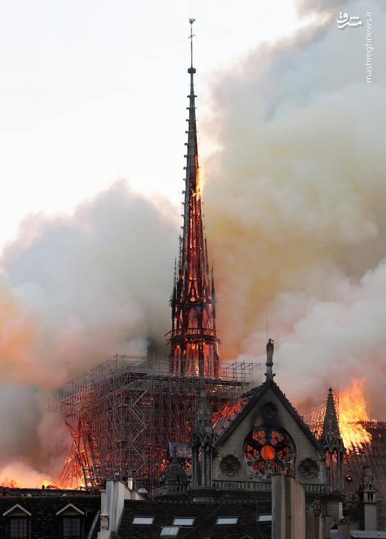 """آتش سوزی بزرگ کلیسای """"نوتردام"""" در پاریس/ 15 آوریل 2019"""