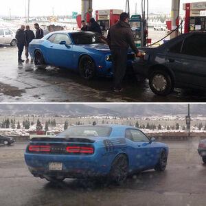 عکس/ خودروی آمریکایی در پمپ بنزین