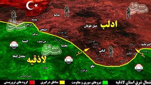 چرا عملیات نیروهای ارتش سوریه در شمال شرق لاذقیه قفل شده است؟ / دو مسیر طلایی که میتواند دیوار مقاومت تروریستها را در شهرک «کبانی» فرو بریزد + نقشه میدانی و عکس