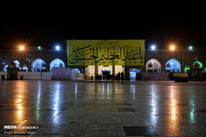 فیلم/ آیین تعویض پرچم گنبد منور حضرت عبدالعظیم(ع)