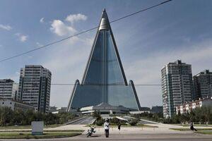 عکس/ هتل 105 طبقهای در پایتخت کره شمالی