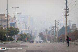 عکس/  آلودگی هوا در کلانشهر کرج