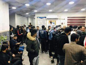 ازدحام جمعیت در مرکز انتقال خون عراق