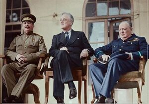 گزارش: «کنفرانس تهران»؛ ماجرای حضور بیاجازه روسای سه کشور در ایران