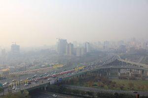 تصویر تامل برانگیز از یک روزعادی و آلوده در تهران