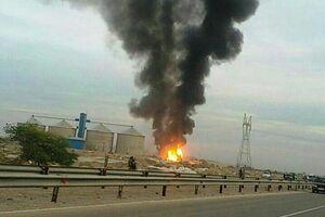 انفجار لوله گاز در پاکدشت