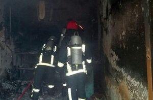 آتشسوزی در ساختمان ۵ طبقه در نارمک