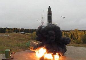 فیلم/ آزمایش موشک بالستیک اتمی روسیه