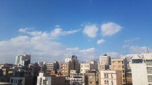 عکس/هوای پاک تهران پساز لغو بازی پرسپولیس