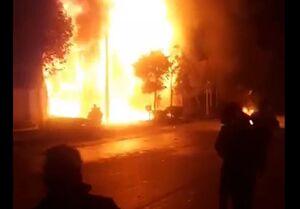چند شهروند در آتشسوزی اغتشاشات