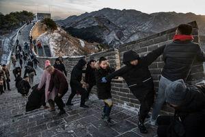 عکس/ دیوار چین یخ زد