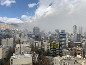 تصویری از امدادرسانی باد به مردم تهران