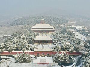 بارش برف در پکن
