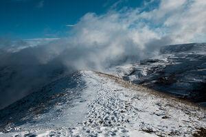 عکس/ ارتفاعات قزوین سفیدپوش شد