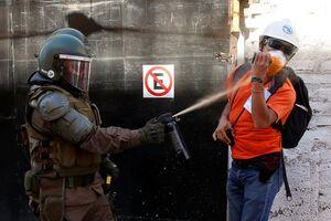 عکس/ ادامه آشوب خیابانی در شیلی