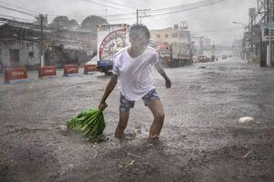 خسارت طوفان دریای در فیلیپین