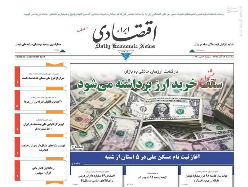 ابرار اقتصادی: سقف خرید ارز برداشته میشود