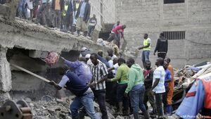 فرو ریختن ساختمان شش طبقه در کنیا