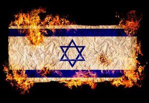 فیلم/ آتش زدن پرچم اسرائیل با شمع یادبود حاج قاسم