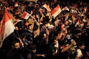 فیلم/ راهپیمایی عراقیها علیه آشوبگران
