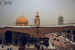 عکس/ حرم حضرت علی(ع) در یک روز مهآلود