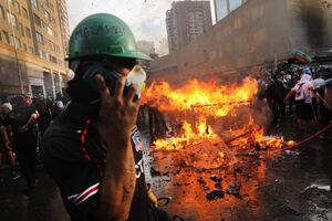 عکس/ تشدید درگیریها در شیلی