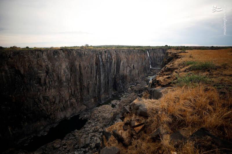 آبشار ویکتوریا پس از خشکی