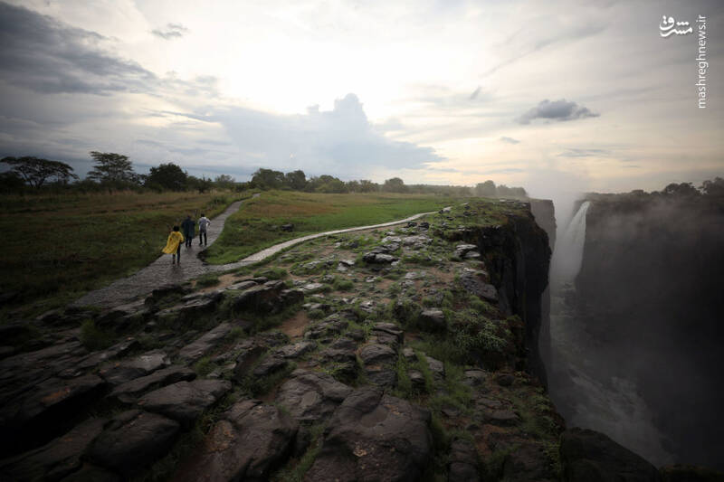 آبشار ویکتوریا قبل از خشکی