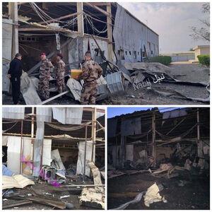 عکس/ خسارت حمله راکتی به فرودگاه بغداد