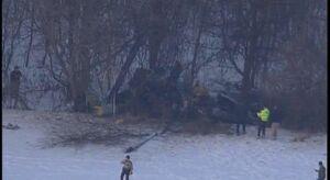 عکس/ سقوط مرگبار بالگرد نظامی در آمریکا