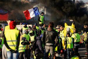 جلیقه زردها فرانسه معترضان خشونت مکرون
