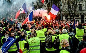 شصتوچهارمین هفته اعتراض فرانسویها +فیلم