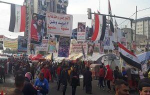 قدردانی تحصنکنندگان «التحریر» بغداد از مرجعیت و حشد