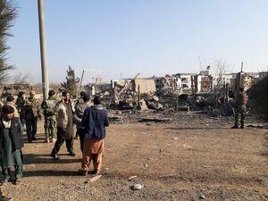 عکس/ حمله به پایگاه نظامی آمریکا در افغانستان