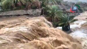 بارش باران و سیلاب در امارات