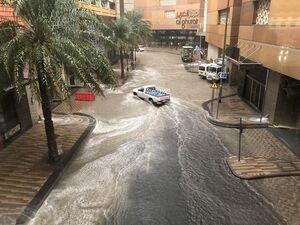 عکس/ بارش باران و سیلاب در امارات