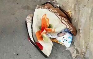پدر و مادر نوزاد رها شده در شهرضا پیدا شدند +عکس