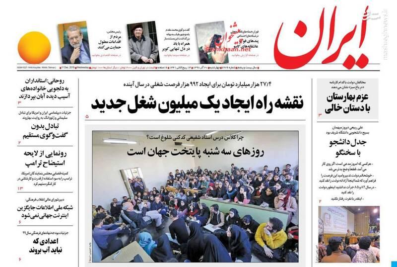 ایران: نقشه راه ایجاد یک میلیون شغل جدید