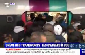 هرج و مرج شدید در شبکه ریلی پاریس
