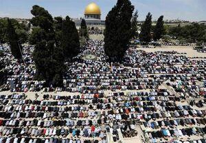 حضور پرشور فلسطینیان در نمازجمعه مسجدالاقصی+عکس