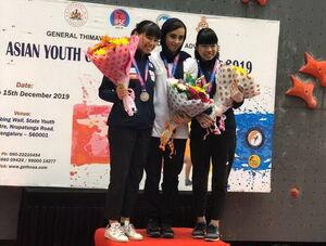 مدال طلای آسیایی دختر سنگنورد ایرانی