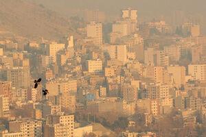 وضعیت کیفیت هوای تهران در ساعت ۲۱ اول دیماه