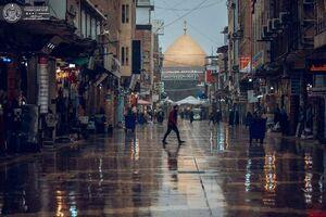 عکس/ هوای بارانی حرم امام علی (ع)