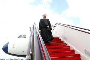 روحانی بدرقه رئیس جمهور