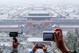 بارش سنگین برف در پکن