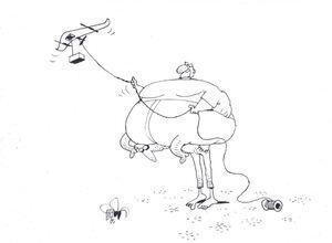 کاریکاتور/ جهرمی با پهپادش فیل هوا کرد!
