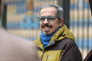 عکس/ هنرپیشه معروف در تمرین استقلال