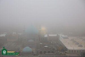 عکس/ امروز؛ مه غلیظی در حرم رضوی
